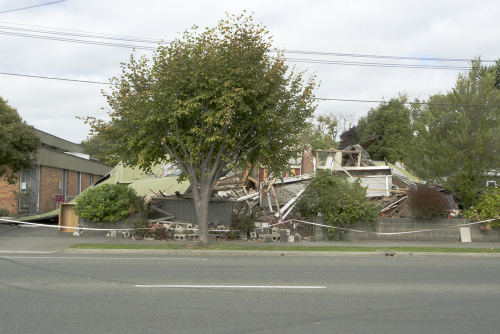 Other half of Te Rangimarie Centre, damaged by earthquake (photo Mark Adams)