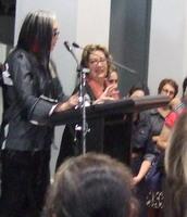 Susan Cohn opening Joyaviva at RMIT Gallery